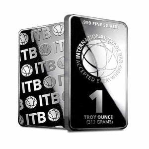 1 oz Silver International Trade Bullion (ITB) Bar