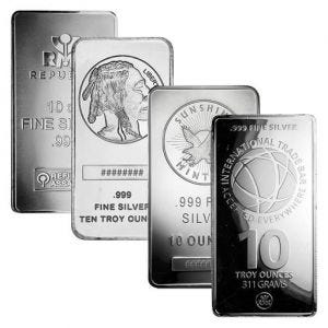 10 oz Silver Bar (Hallmark Varies)