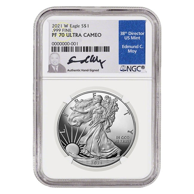 The Silver American Eagle Proof has significant popularity for the obverse-reverse design combination it has boasted for the entirety of its now 35-year tenure.